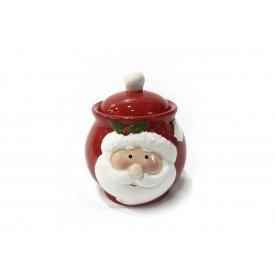 pote natal com tampa ceramica vermelho papai noel 1390 casa cafe mel 1