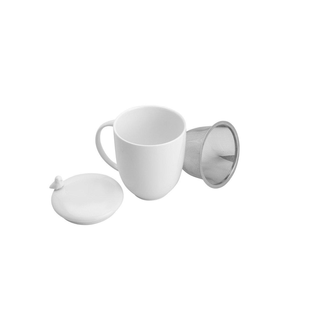 caneca de porcelana com tampa e infusor birds 17420 wolff casa cafe mel 2