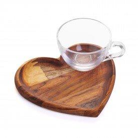 xicara de cha com pires coracao madeira teca 13214 bon gourmet casa cafe mel 1
