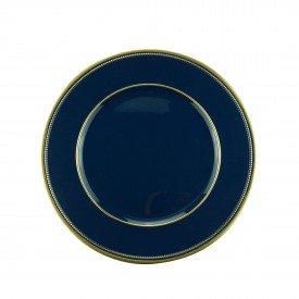 sousplat de plastico azul marinho com dourado 61126 bon gourmet casa cafe mel 1