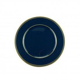 sousplat para cha de plastico azul com dourado 61239 bon gourmet casa cafe mel 2
