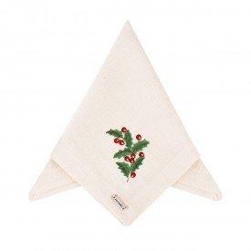 guardanapo de tecido linhao off white ramo natal 003170 mameg casa cafe e mel 5