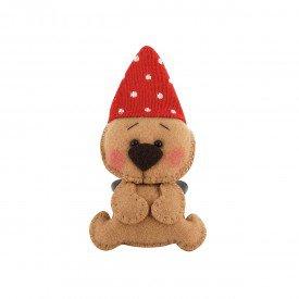 argola para guardanapo natal urso com gorro 003083 mameg casa cafe e mel 4