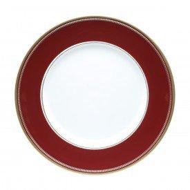 sousplat plastico 33cm detalhe dourado individual vermelho 60246 rojemac casa cafe mel 1