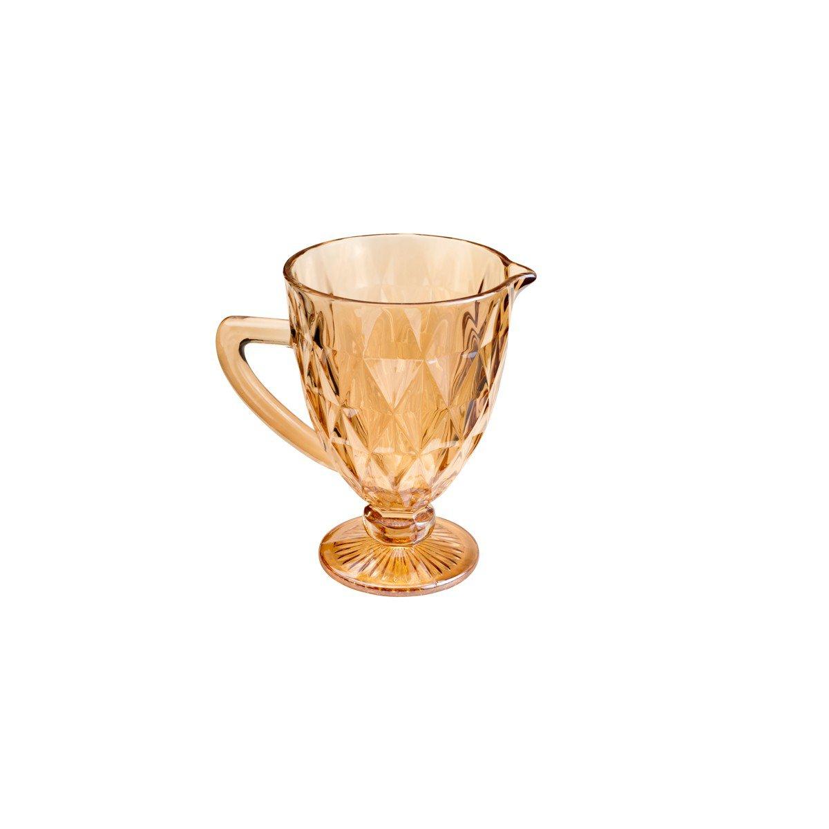 jarra de vidro diamond 1 litro ambar 7391 lyor casa cafe mel 1