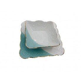 conjunto petisqueira com filete dourado e detalhe de borboletas 2 pecas verde 062030 pracaza casa cafe mel