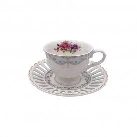 xicara de cafe porcelana new bone china 6 pecas l hermitage 24106 full fit casa cafe mel