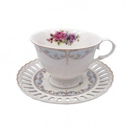 xicara de cha porcelana new bone china 6 pecas l hermitage 24107 full fit casa cafe mel