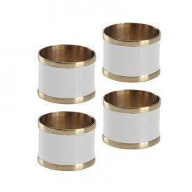 argola para guardanapo 4 pecas latao e resina l hermitage off white 24437 full fit casa cafe mel