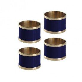 argola para guardanapo 4 pecas latao e resina l hermitage azul marinho 24438 full fit casa cafe mel