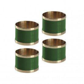 argola para guardanapo 4 pecas latao e resina l hermitage verde 24439 full fit casa cafe mel