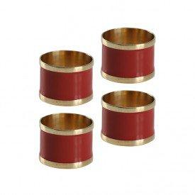argola para guardanapo 4 pecas latao e resina l hermitage marsala 24440 full fit casa cafe mel