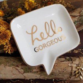 mini prato dcorativo de porcelana hello casa cafe e mel