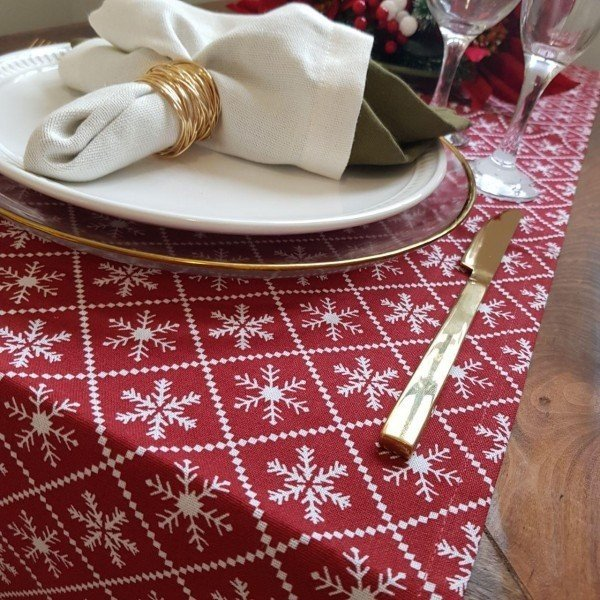 caminho de mesa de tecido natal vermelho 581 007 casa cafe e mel 1