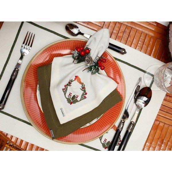 guardanapo de tecido linhao bird nest individual 003173 mameg casa cafe mel 2