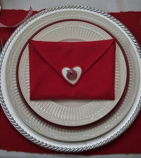 sealed with a kiss napkin fold for valentines