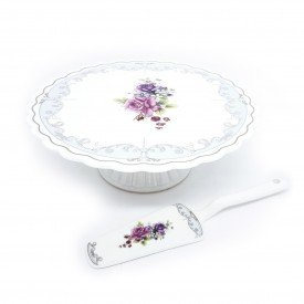 prato de bolo e espatula porcelana new bone china l hermitage 26244 full fit casa cafe mel 1