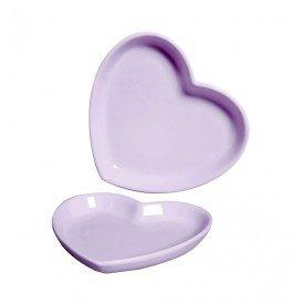 mini prato ceramica decorativo coracao lilas 79 388l silveira casa cafe mel