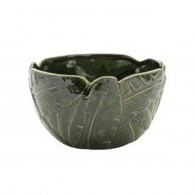 bowl petisqueira de ceramica banana leaf 12xo21cm 4337 lyor casa cafe mel 2