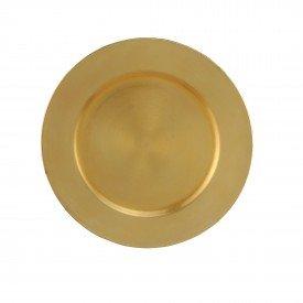 sousplat patinado de plastico opala dourado 7984 lyor casa cafe mel 1