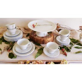 conjunto para bolo pomerode branco 19 pecas 6661 019 114 003 058 000 porcelana schmidt 1