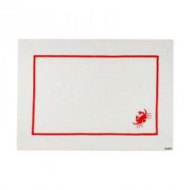 americano barra bordada select crab individual 002350 mameg casa cafe mel
