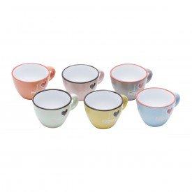 xicara de cafe porcelana i love espresso 6 pecas 26098 bon gourmet casa cafe mel 1