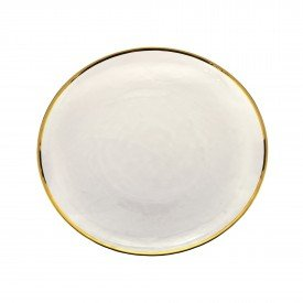 prato raso individual cristal com borda dourada agate 27808 rojemac casa cafe mel 1