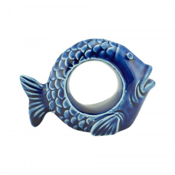 argola de guardanapo 8cm ceramica peixe ocean azul 4 pecas 28101 rojemac casa cafe mel 1