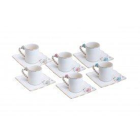 xicara de cafe com pires porcelana flower square colorido 35470 wolff casa cafe mel 1