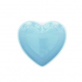 prato coracao ceramica azul detalhe bolinha 14 5x15cm z1527 a casa cafe mel