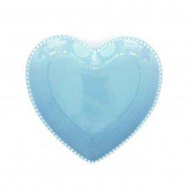 prato coracao ceramica azul detalhe bolinha 17x17 5cm z1526 a casa cafe mel