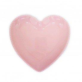 prato coracao ceramica rosa detalhe bolinha 19x20cm z1525 r casa cafe mel 2