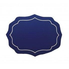 jogo americano azul escuro bordado bege 61206 bon gourmet casa cafe mel