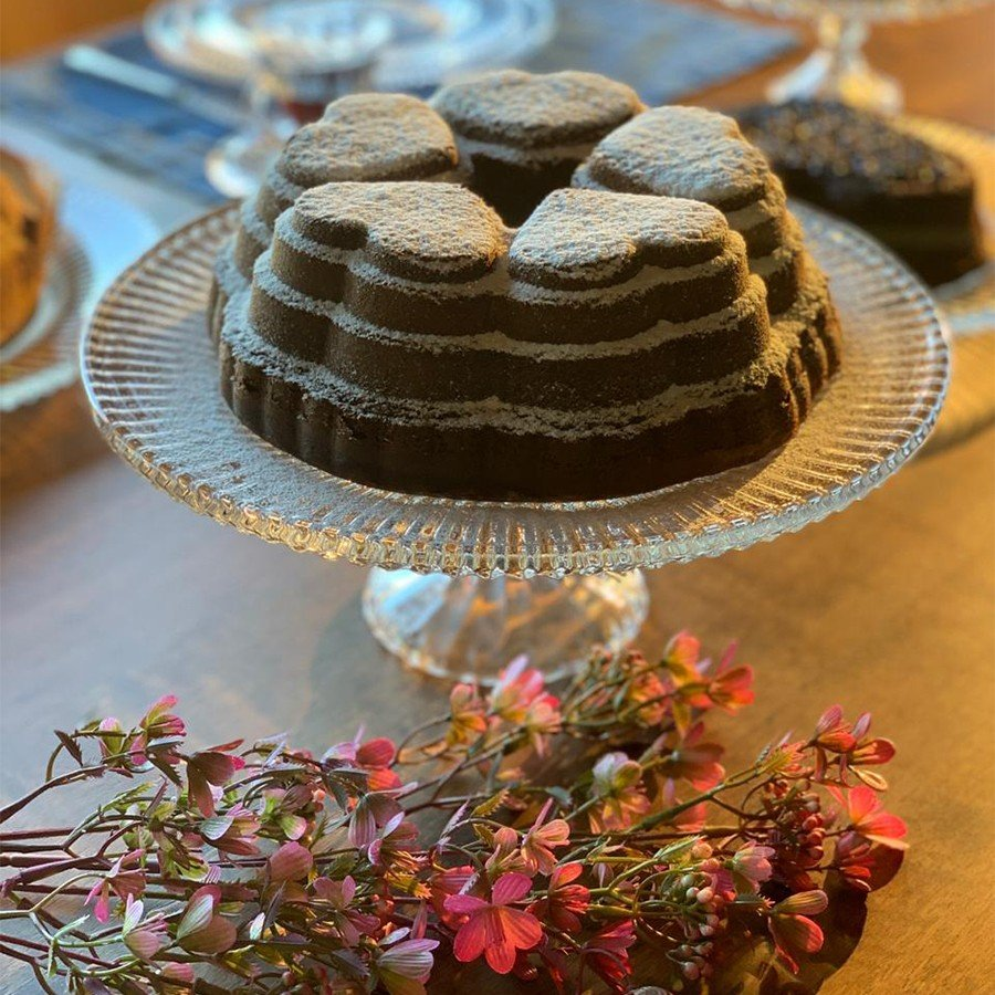 prato de bolo cristal redondo com pe renaissance o31 5cm branco 7644 lyor casa cafe mel 3