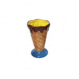 taca para sorvete casquinha ceramica individual amarelo 73336 a casa cafe mel