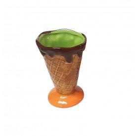 taca para sorvete casquinha ceramica individual verde 73336 v casa cafe e mel 2