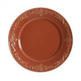 prato para sobremesa ceramica acanthus cantaloupe 144876801 porto brasil casa cafe mel