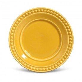 prato para sobremesa ceramica atenas mostarda 410154 porto brasil casa cafe mel 1
