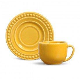 xicara de cha e cafe ceramica atenas mostarda 410156 porto brasil casa cafe mel