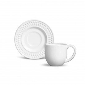 xicara de cafe ceramica roma branco 61135 porto brasil casa cafe mel