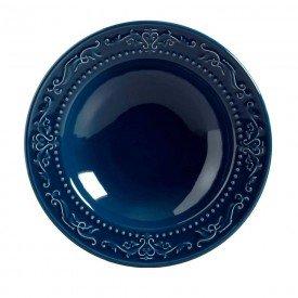 prato fundo ceramica acanthus deep blue 13483201 porto brasil casa cafe mel