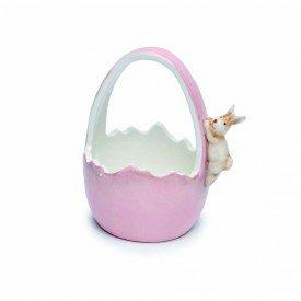 cesta de ceramica decorativo rosa 1014670 cromus casa cafe mel