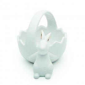 cesta pascoa coelho da orelha dourada ceramica branco 1014759 cromus casa cafe mel