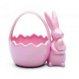 cesta pascoa coelho ceramica perola rosa 1014767 cromus casa cafe mel