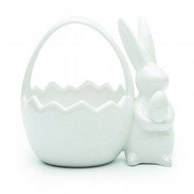 cesta pascoa coelho ceramica perola branco 1014806 cromus casa cafe mel