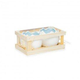 caixa de dois meios ovos de ceramica branco com azul 1720595 cromus casa cafe mel