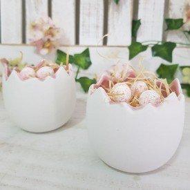 caixa de dois meios ovos de ceramica branco com rosa 1720596 cromus casa cafe mel 3