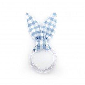 argola guardanapo de acrilico pascoa orelhas de coelho xadrez azul claro 0001 amora casa casa cafe mel 1