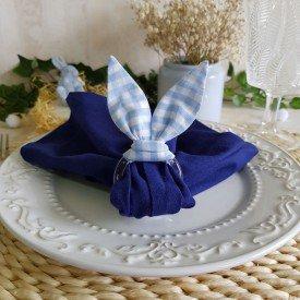 argola guardanapo de acrilico pascoa orelhas de coelho xadrez azul claro 0001 amora casa casa cafe mel 3